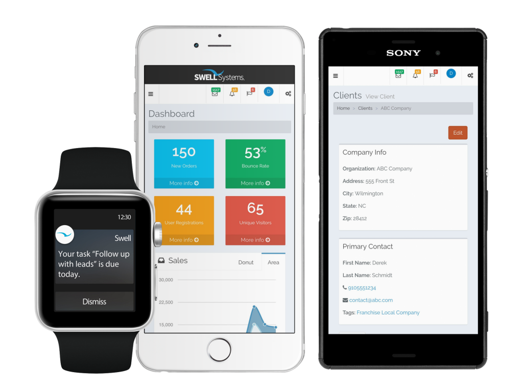 Mobile friendly smart all in one CRM
